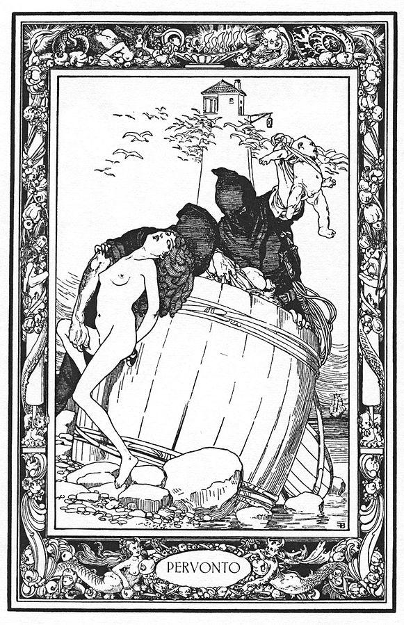 Illustration de Von Bayros pour une édition du Pentamerone.