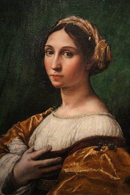 """""""Portrait de jeune femme"""" de Raffaello Sanzio (Musée des Beaux-Arts de Strasbourg)"""
