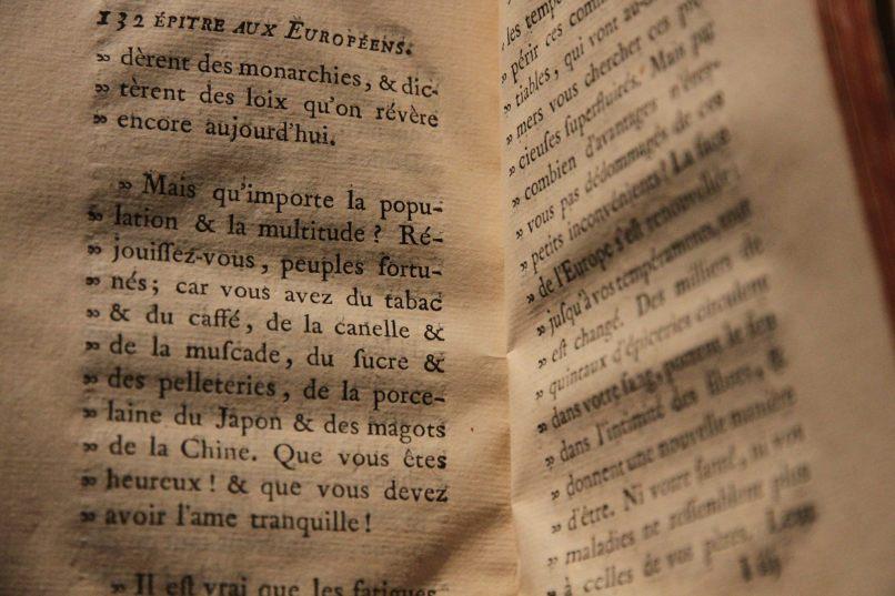 """Charles François Tiphaigne de la Roche, """"Epître aux Européens"""" dans """"Giphantie"""" (1760)"""