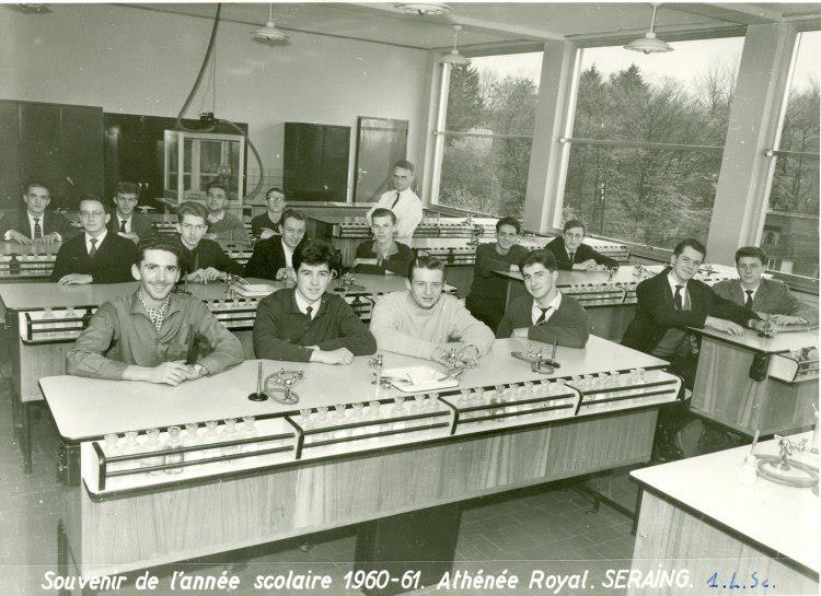 Album Athénée Air pur Seraing /Prof de jadis Professeur Léon LANGE 1ère L Sc 1961