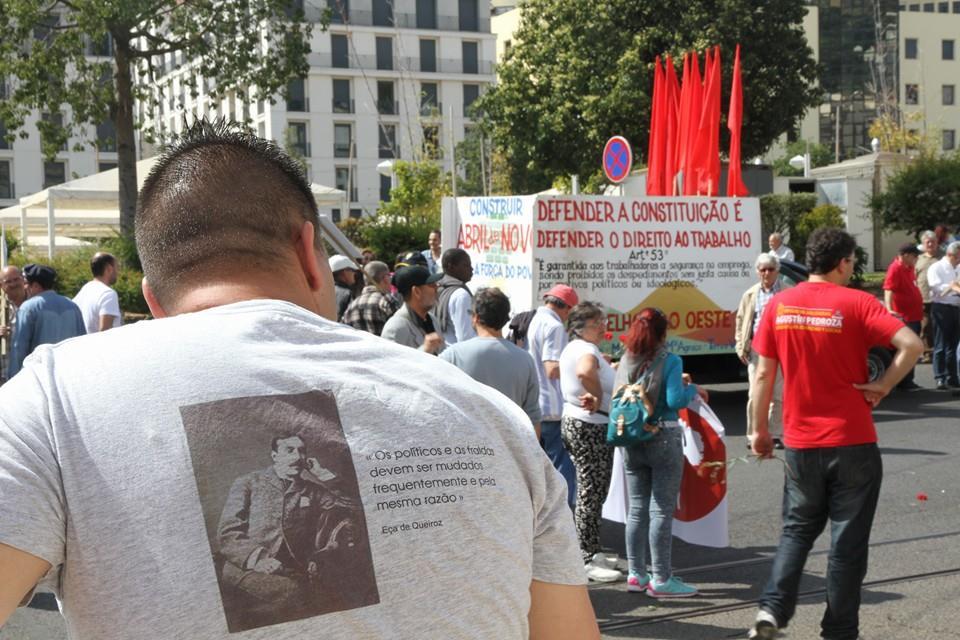 Eça de Queiroz à la manifestation du 1er mai (Lisbonne, 2015).