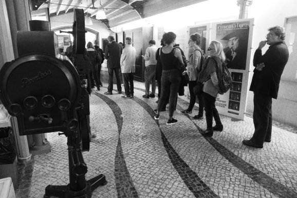 """Le 5 mai 2015, la Cinemateca portugesa a rendu hommage à Manoel de Oliveira en présentant """"Visitas ou memorias e confissoes"""""""