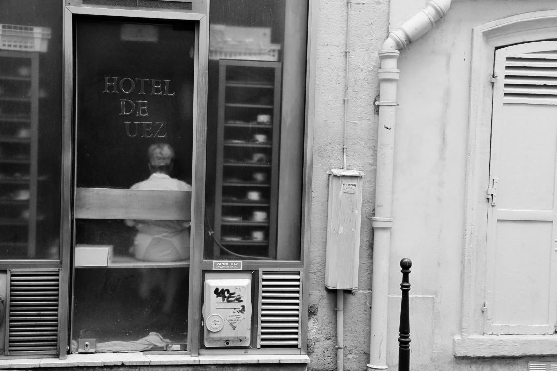 Hôtel de Uez, Rue Champollion. (Photo André Lange-Médart)
