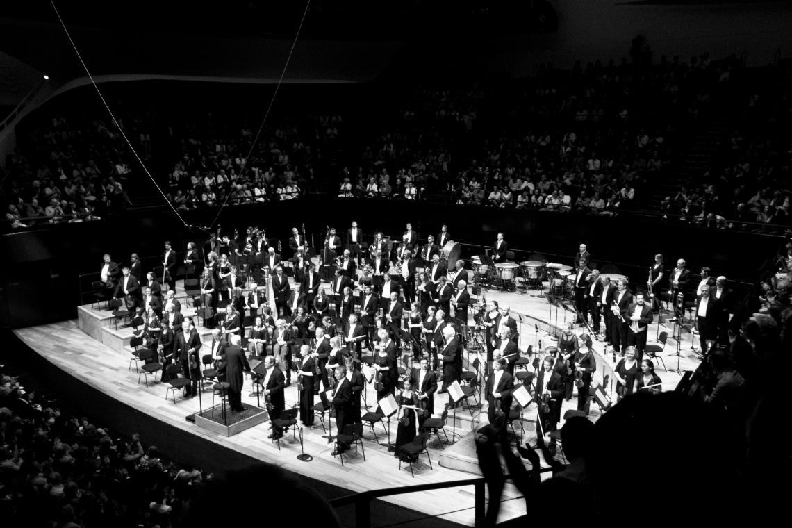 Bernard Haitink et le London Philarmonic Orchestra Photo : André Lange-Médart