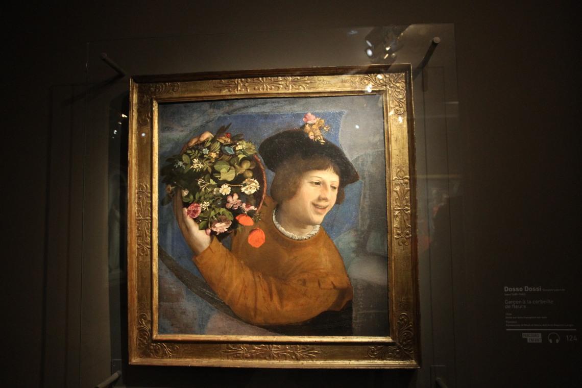 Dosso DOSSI, Garçon à la corbeille de fleurs, 1524.