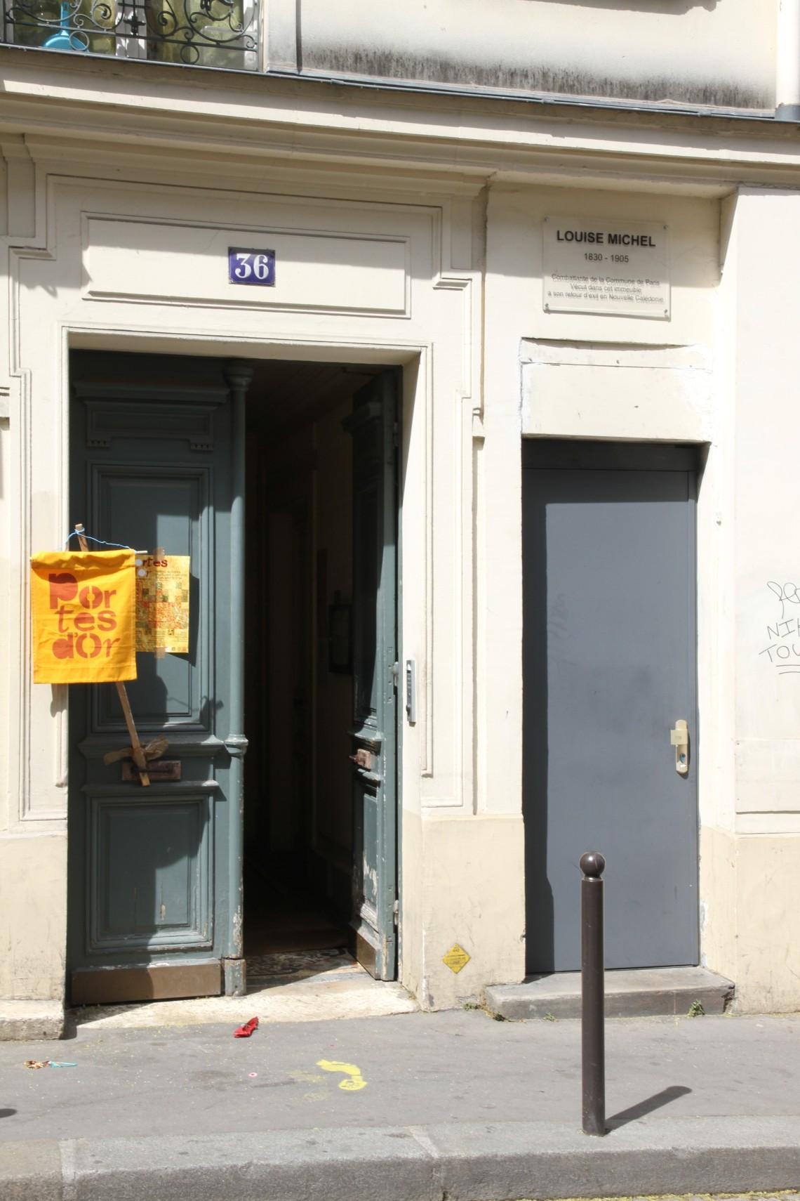 36 rue Polonceau, où habita Louise Michel après son retour de Nouvelle Calédonie. Photo : André Lange-Médart