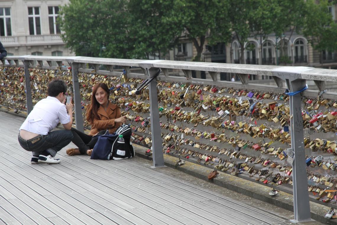 Cadenas sur le Pont des Arts (20 juin 2015) Photo André Lange-Médart