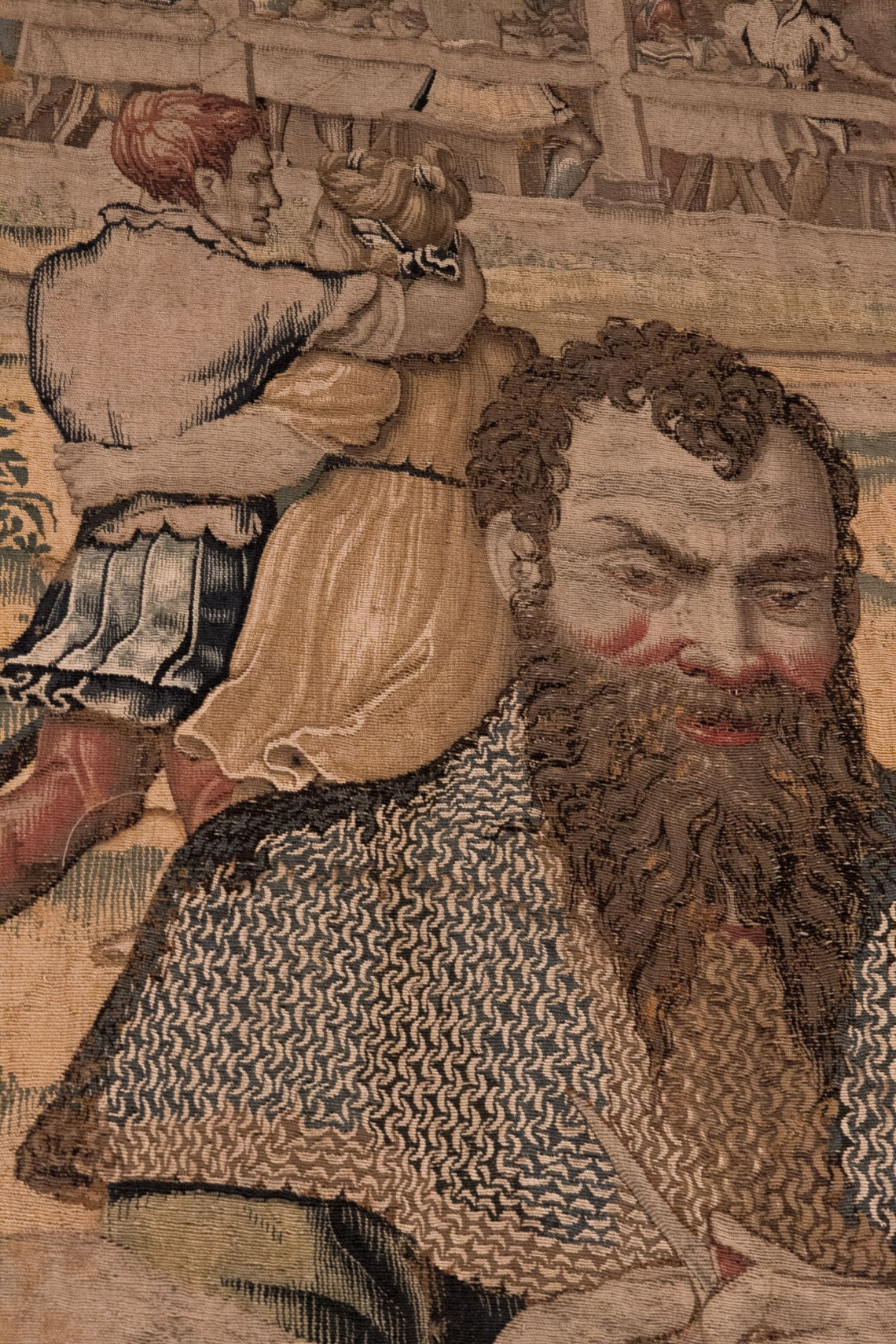 Jean Baudouyn, Le dîner du général (détail), Bruxelles, 1546-1548 (d'après Giulio Romano)