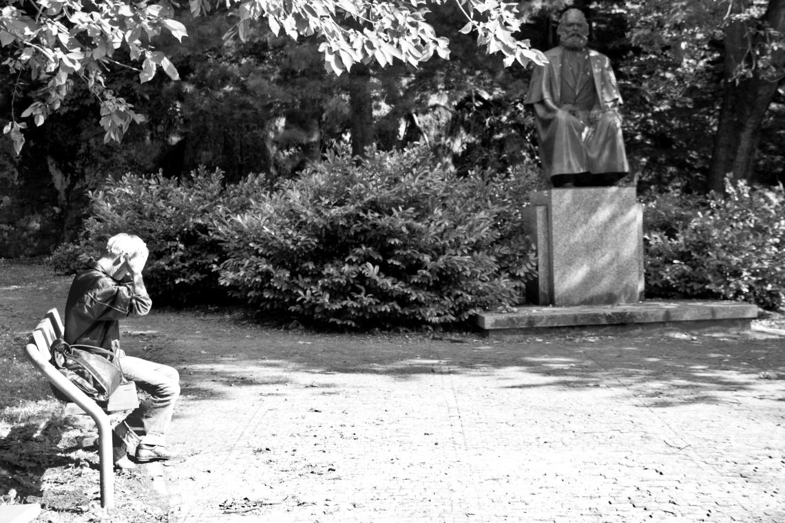 La statue de Karl Marx à Karlovy Vary Photo André lange-Médart