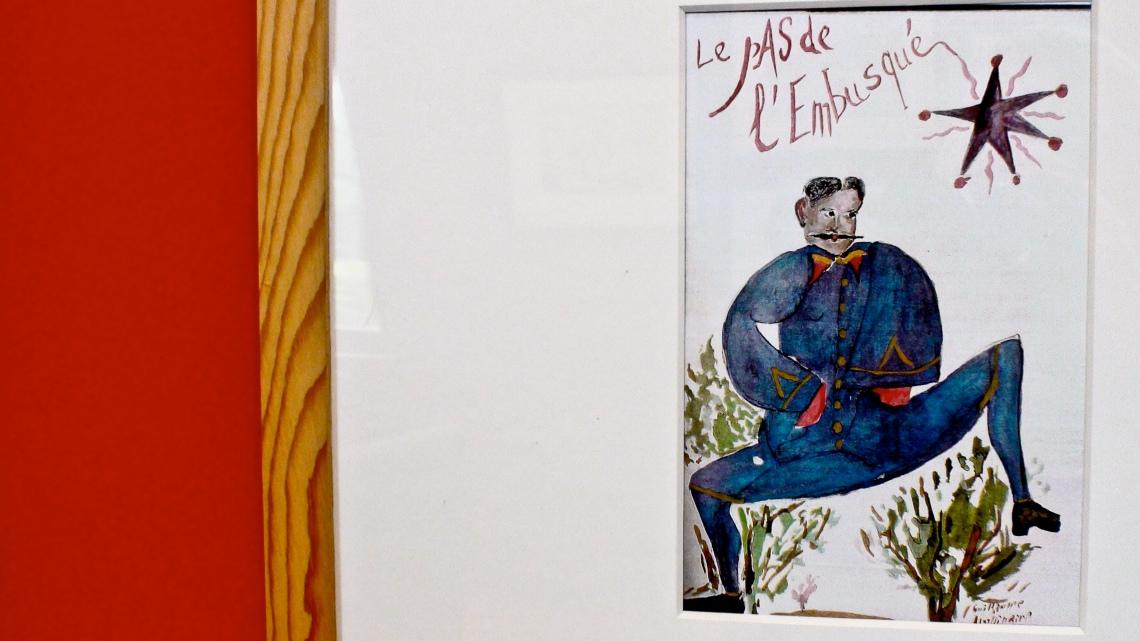 Dessin de Guillaume Apollinaire conservé au Musée Apollinaire de Stavelot. Photo André Lange-Médart