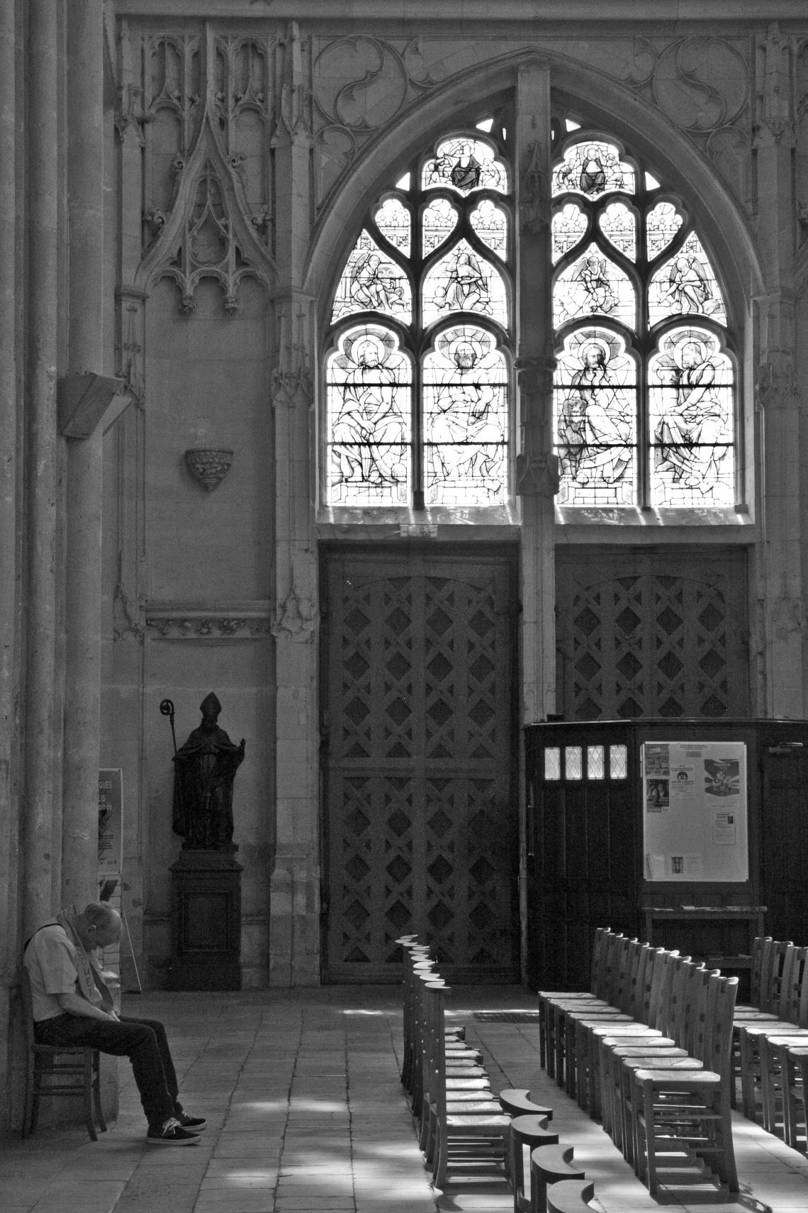 Transept de la Cathédrale Notre-Dame de Senlis. Photo André Lange-Médart