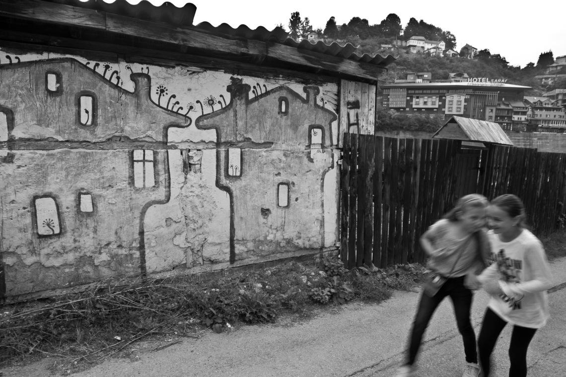 Sreet Art sur les hauteurs de Sarajevo (août 2015) Photo André Lange-Médart.