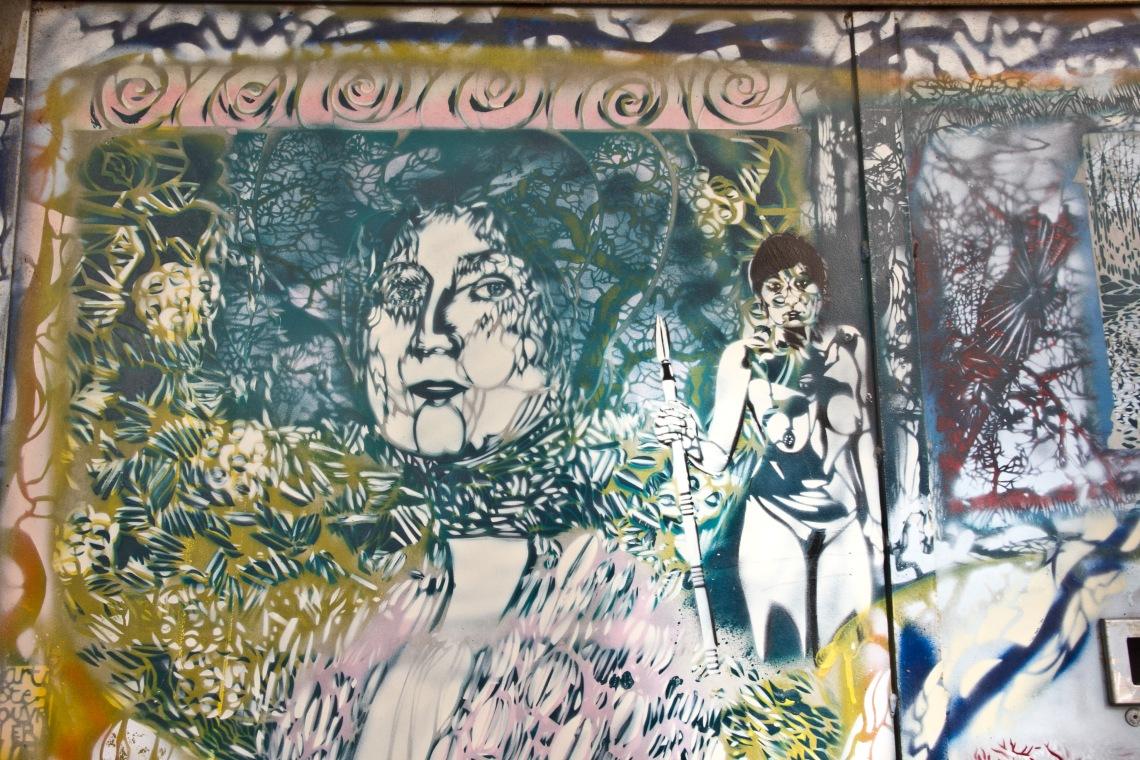 Oeuvre murale d'Artiste-Ouvrier, sans titre. Photo André Lange-Médart