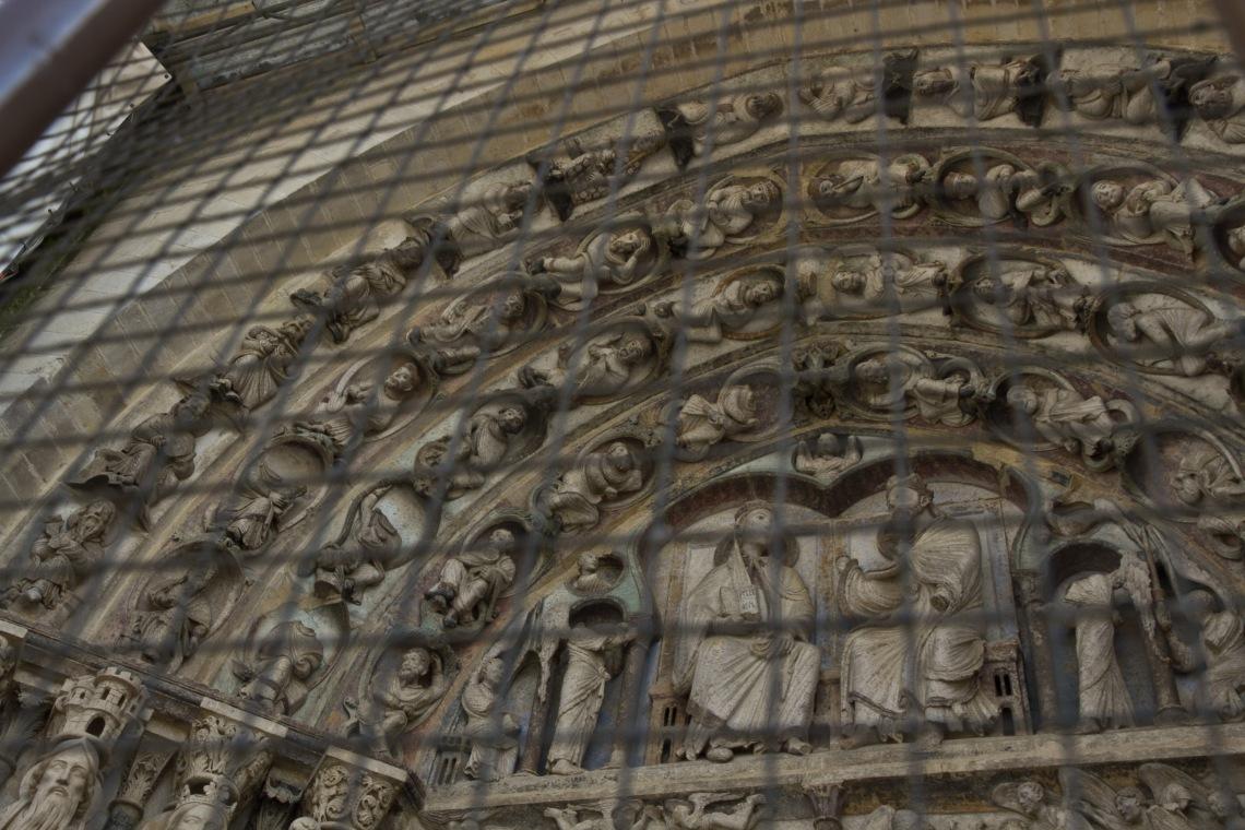 Portail de Notre-Dame de la cathédrale de Senlis. Photo André Lange-Médart.