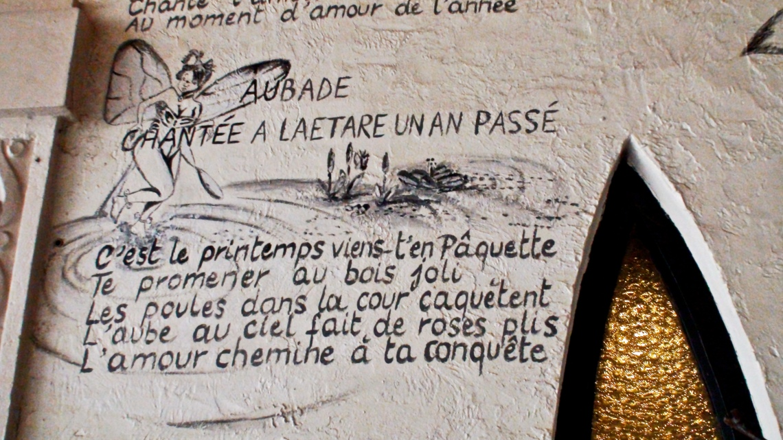 """Sur les murs du restaurant """"Ô Mal Aimé"""" (Stavelot, juillet 2009) Photo André Lange-Médart"""