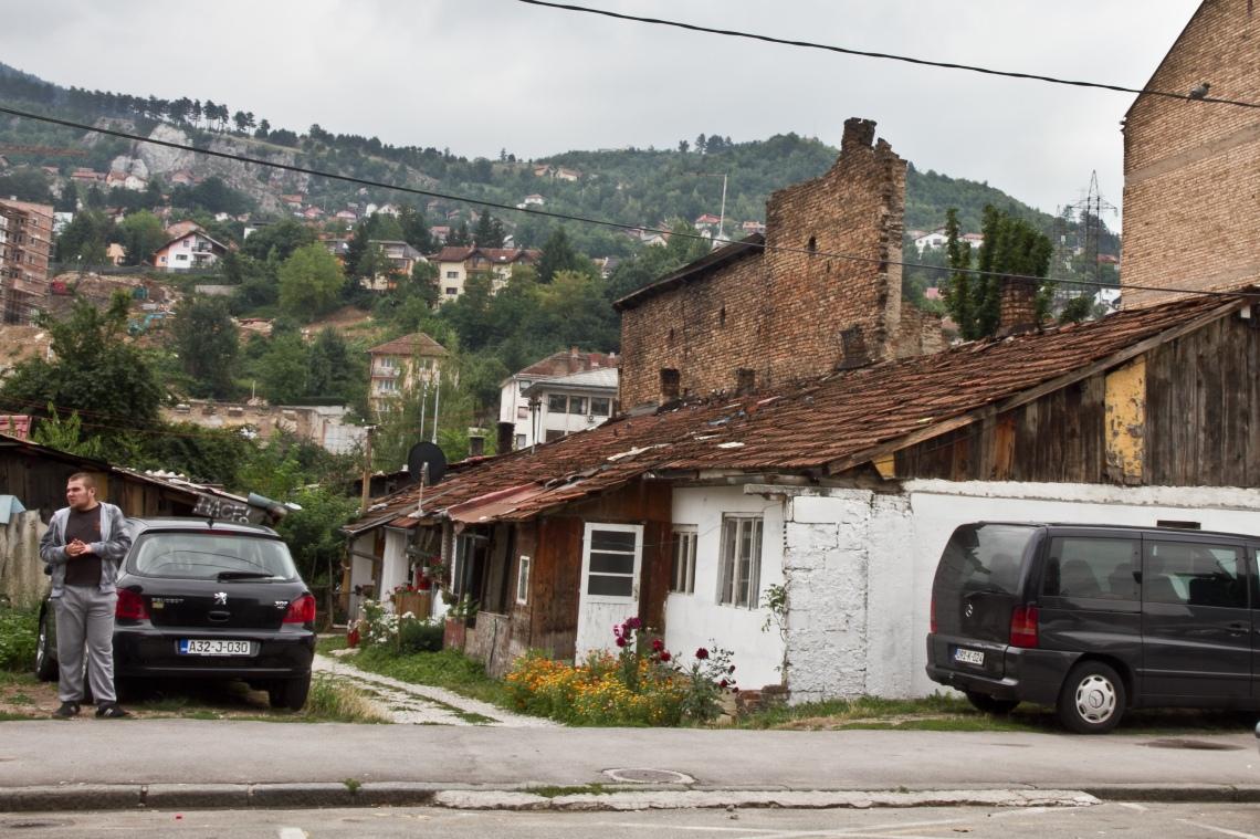Derrière le Sarejo City Center (Sarajevo, août 2015) Photo André Lange-Médart