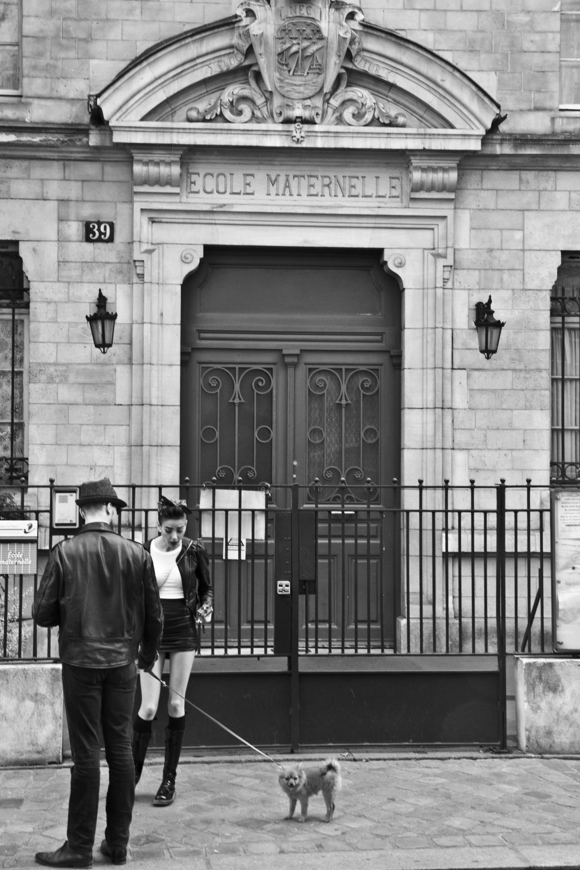 Ecole maternelle, Rue Saint-André des Arts (juillet 2015). Photo André Lange-Médart.
