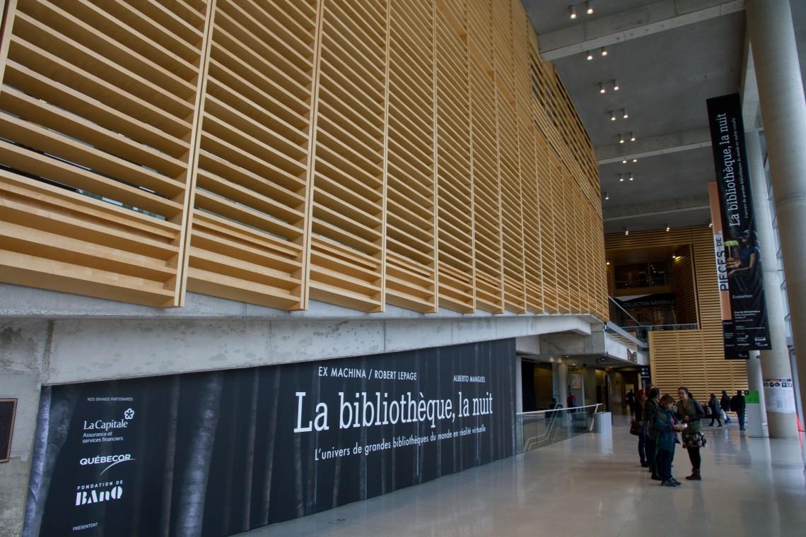 """Exposition """"La bibliothèque, la nuit"""" à BAnQ (Montréal)."""