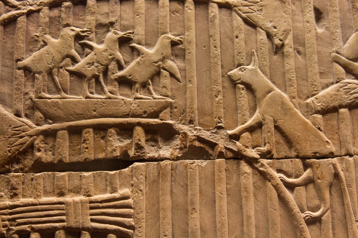 Chat égyptien traquant des terroristes (Musée du Vatican) Photo : André Lange-Médart