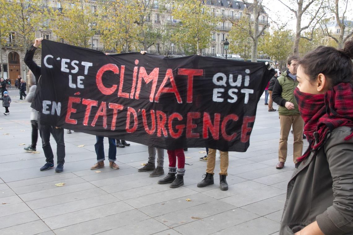"""""""C'est le climat qui est en état d'urgence"""" (Photo André Lange-Médart)"""