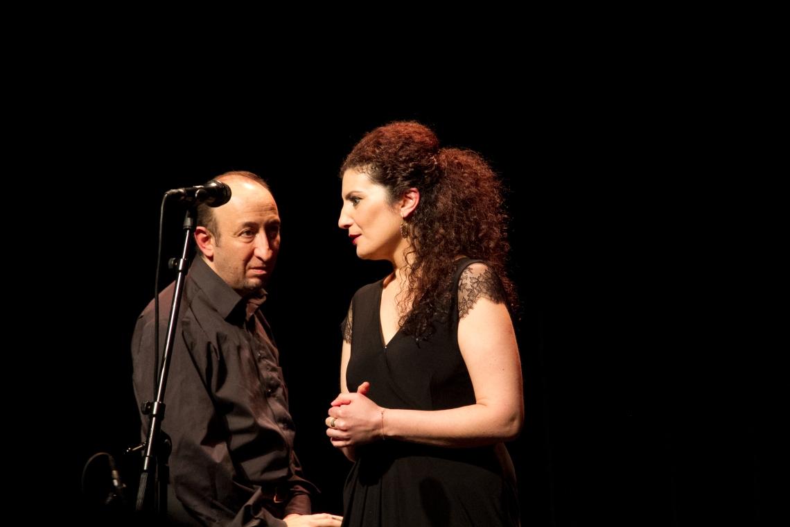 Waed Bouhassoum et Iyad Haimour (Photo : André Lange-Médart)