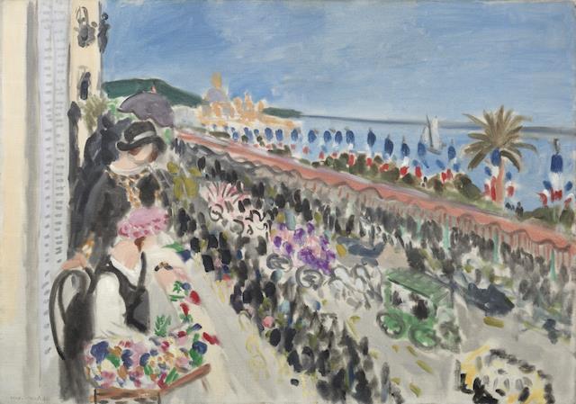 Henri Matisse, Bataille de fleurs. Nice, 1927.