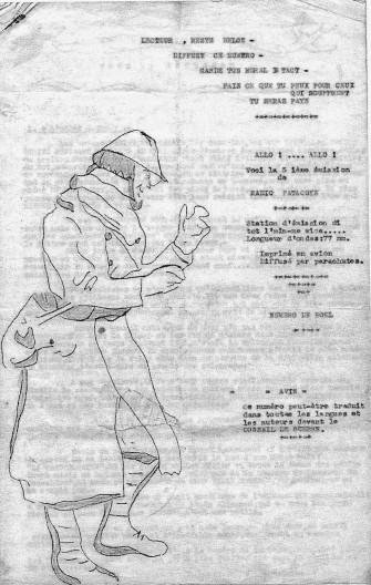 """Un des exemplaires conservés de """"Radio Patacoye"""", la feuille clandestine éditée par le notaire Coëme (source : IHOES)."""