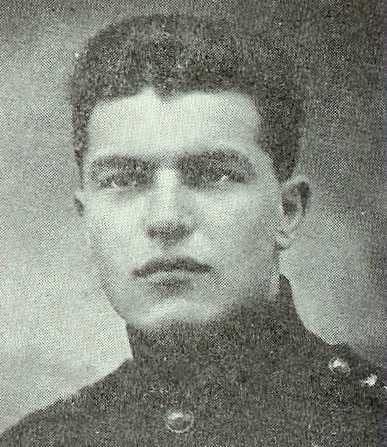 François Médart, probablement durant son service militaire (v. 1920 ?)