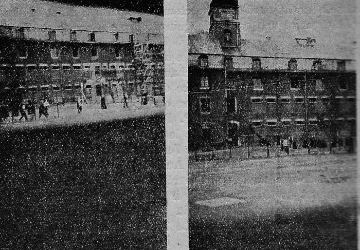 Photos clandestines de prisonniers à la Citadelle de Liège (1942). (Source : Lohest et Kreit)